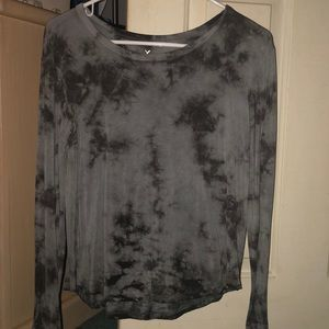 AE soft and sexy gray tiedye long sleeve XS
